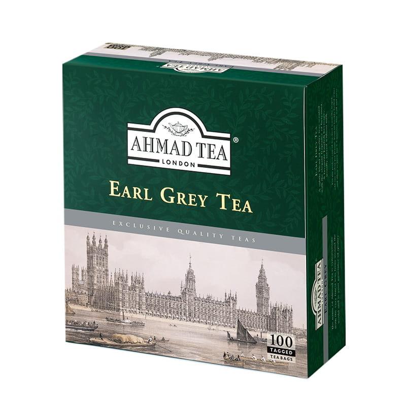 Ahmad Tea London – Earl Grey Tea – 100 torebek z zawieszką