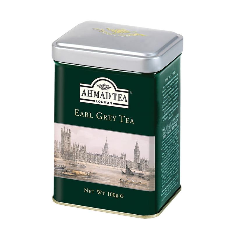Ahmad Tea London – Earl Grey Tea (puszka) – 100 g herbata liściasta