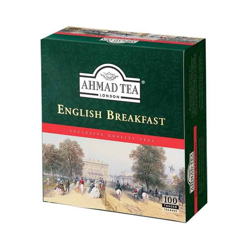 Ahmad Tea London – English Breakfast – 100 torebek z zawieszką