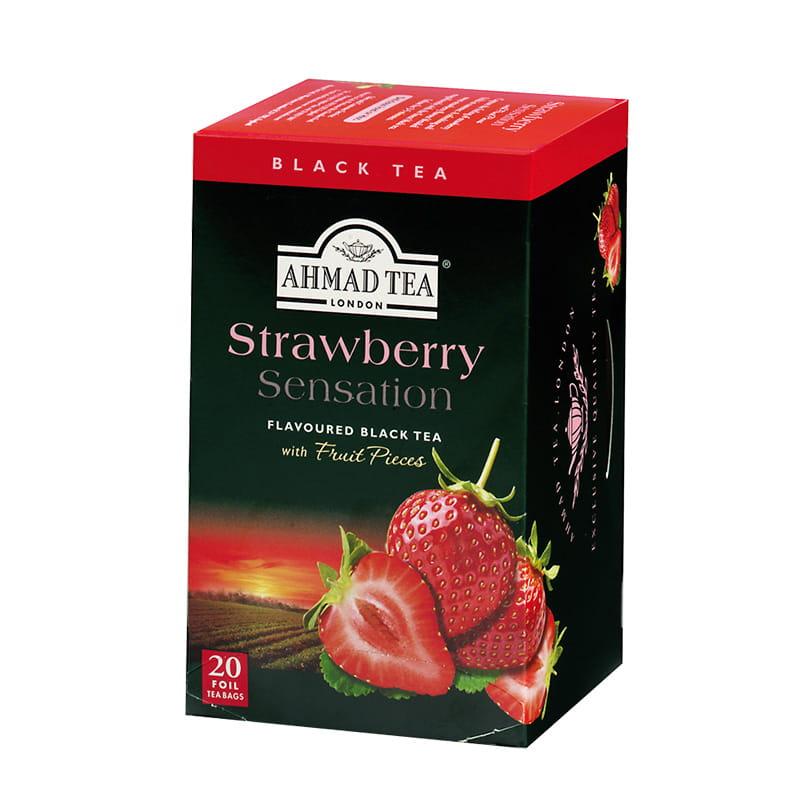 Herbata czarna smakowa – Truskawka (20 sztuk)